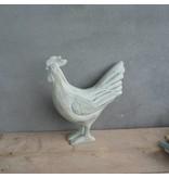 GeWoon Blauwe houten decoratiehaan - 24 cm