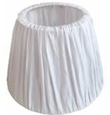 GeWoon Witte stoffen lampenkap - 35xH26 cm