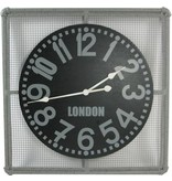 GeWoon Grey metalen wandklok London - 68x68 cm
