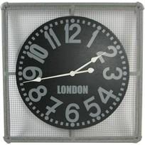 Grey metalen wandklok London - 68x68 cm