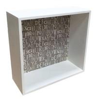Witte houten wandkast Mira - 30x30 cm