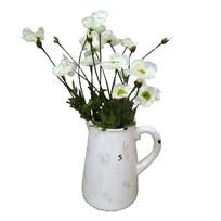 Witte klaproos 60 cm - set van 5
