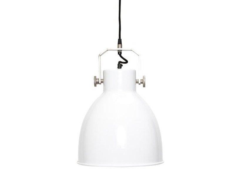 GeWoon Witte metalen hanglamp - Ø29xH41cm