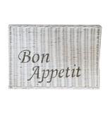 GeWoon Witte rieten placemat - Bon Appetit