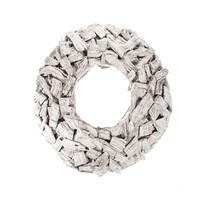 Wit houten kransje Cambria - 26 cm