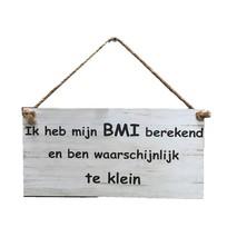 Wit tekstbord - Ik heb mijn BMI berkend