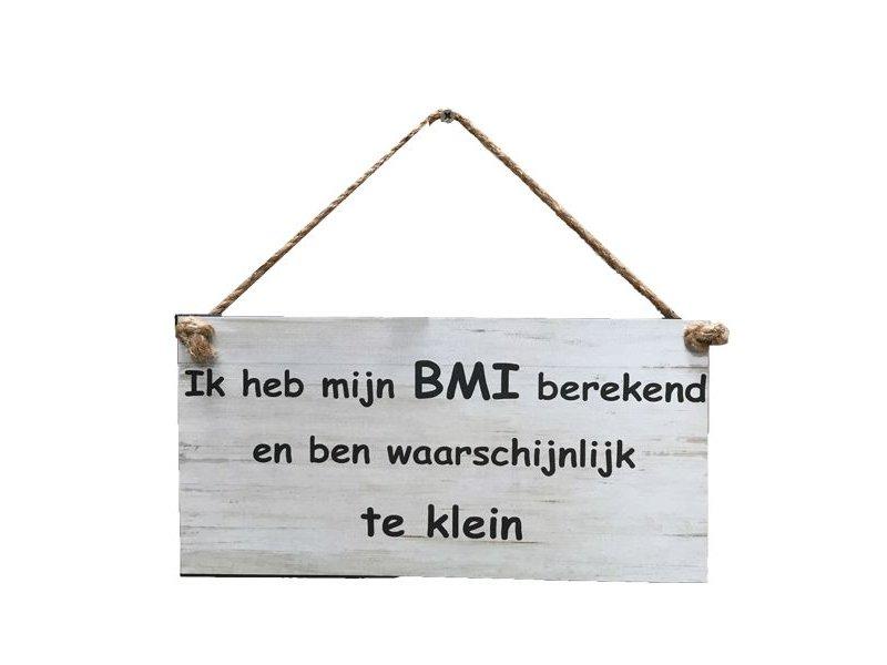 GeWoon Wit tekstbord - Ik heb mijn BMI berkend