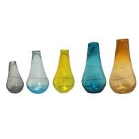 Gekleurde glazen flesjes - set van 5