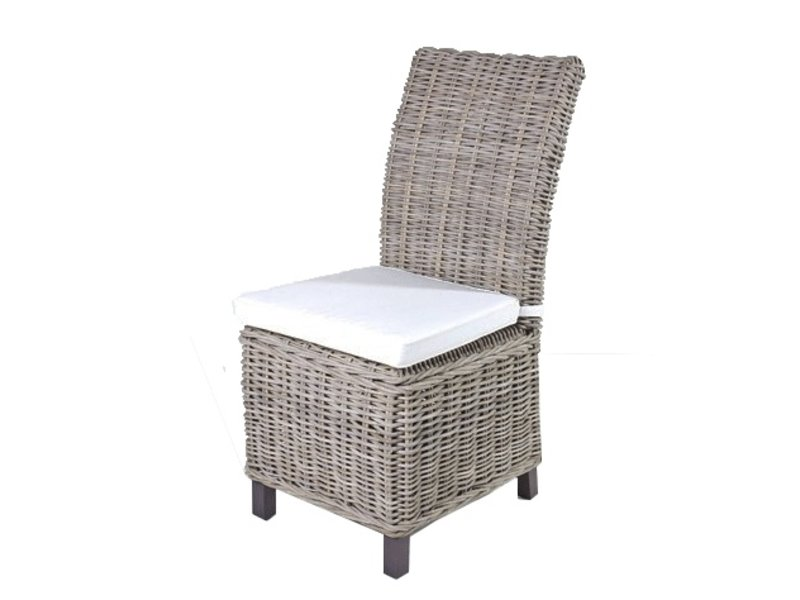 Gewoon rieten stoel dining met wit kussen gewoonknus