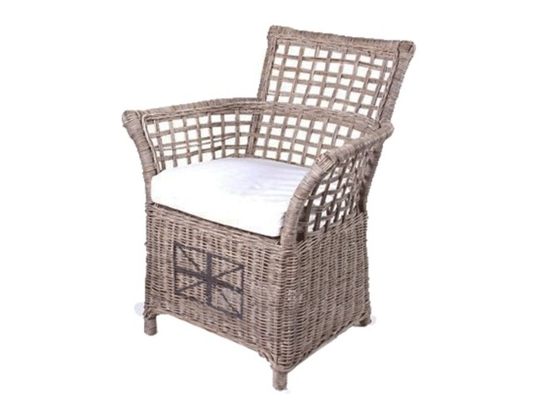 Stoel Rotan Wit : Gewoon rieten stoel veranda wit kussen gewoonknus