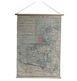 GeWoon Grote landkaart Nederland - 90x130 cm