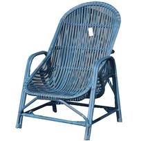 Blauwe rotan tuinstoel - Behati