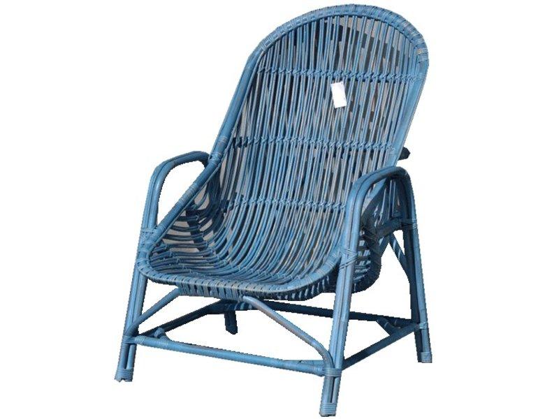 GeWoon Blauwe rotan tuinstoel - Behati