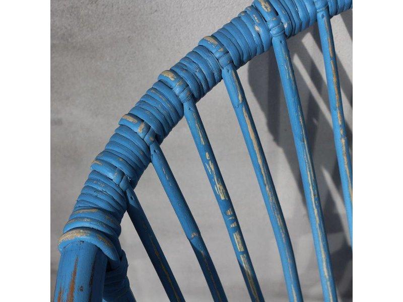 GeWoon Blauwe rotan tuinstoel - You