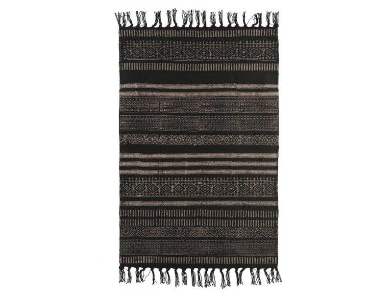 House Doctor Vloerkleed stack zwart grijs neutraal- 160x230 cm