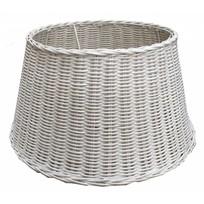 Witte rieten lampenkap - 40 cm