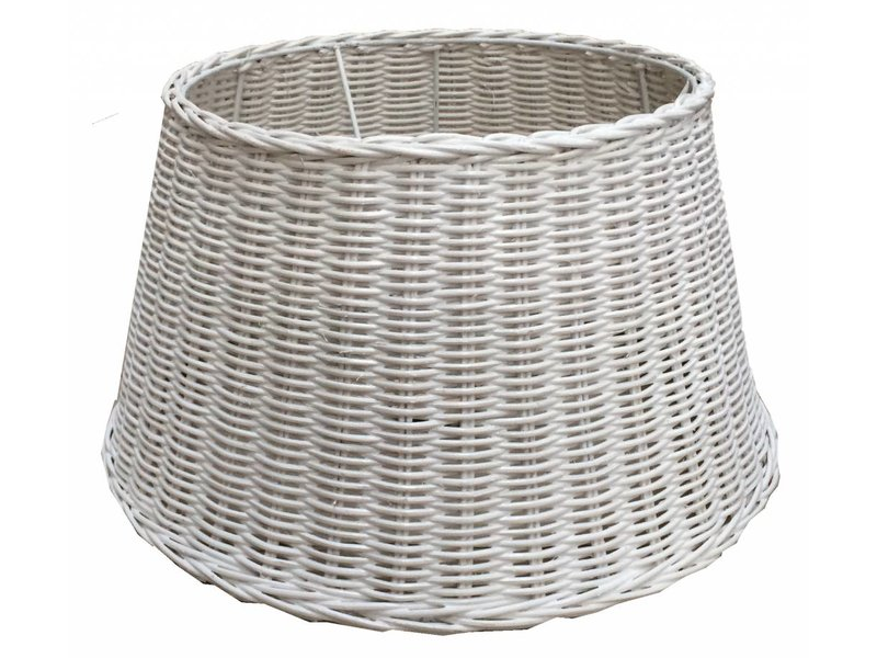 GeWoon Witte rieten lampenkap - 40 cm