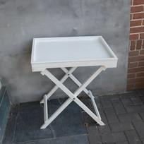 Witte Butlertray - 60x45,5x66cm