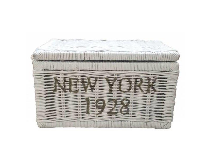 GeWoon Witte rieten mand - New York 1928