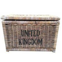 Grote bruine rieten mand XL - United Kingdom