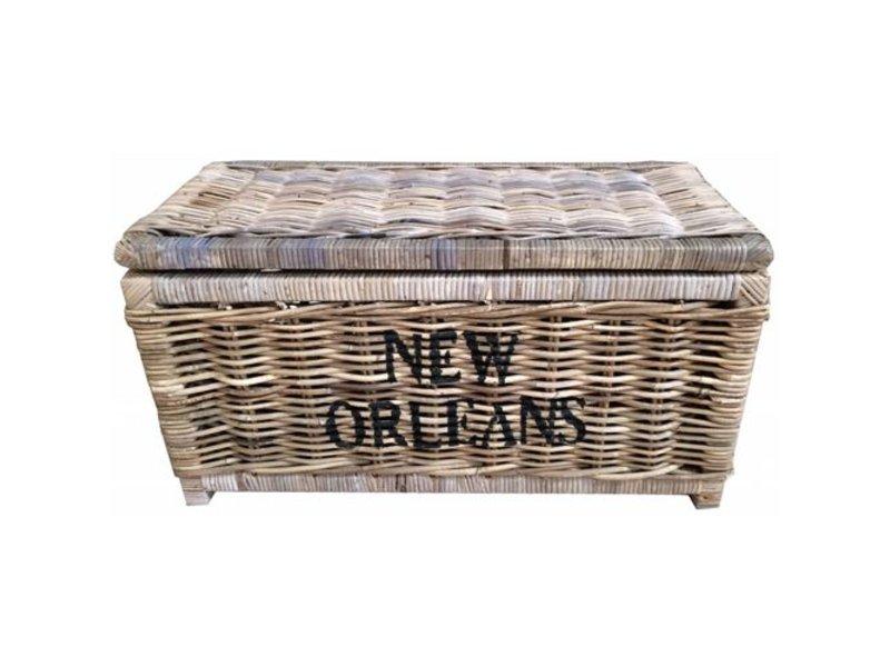 GeWoon Grote rieten mand L - New Orleans