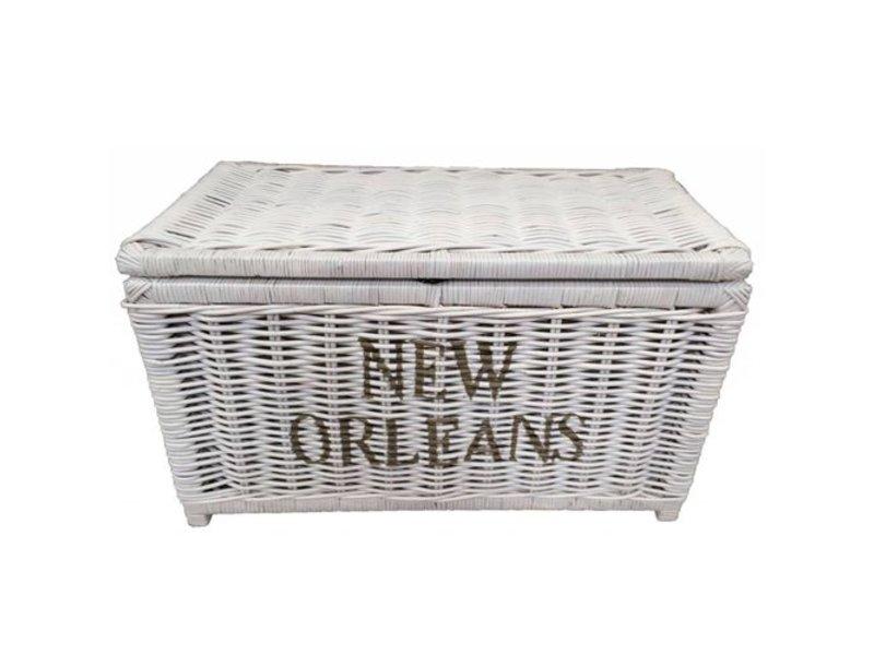 GeWoon Witte rieten mand L - New Orleans