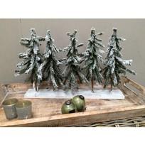 Kerstboompjes op plank - 58 cm