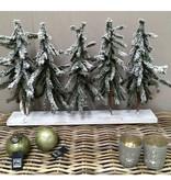 Countryfield Kerstboompjes op plank - 58 cm