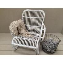 Witte rotan loungestoel - Mahakan