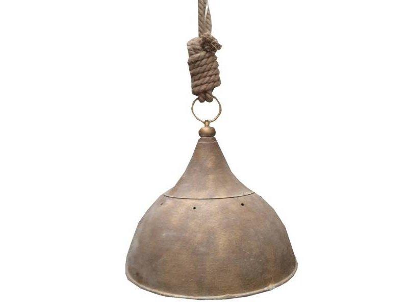 GeWoon Ruwkoper metalen hanglamp jute - 41 cm