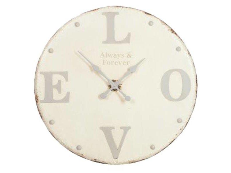 J-Line Wandklok Love - 80 cm