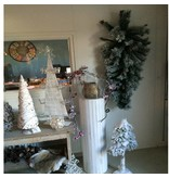 PTMD Collection Kerstboom Snowy S - 85x25 cm
