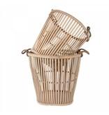 GeWoon Hamper bamboo mand M - 31,5x31,5x32 cm
