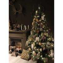 Kerstboom met lichtjes - 210 cm