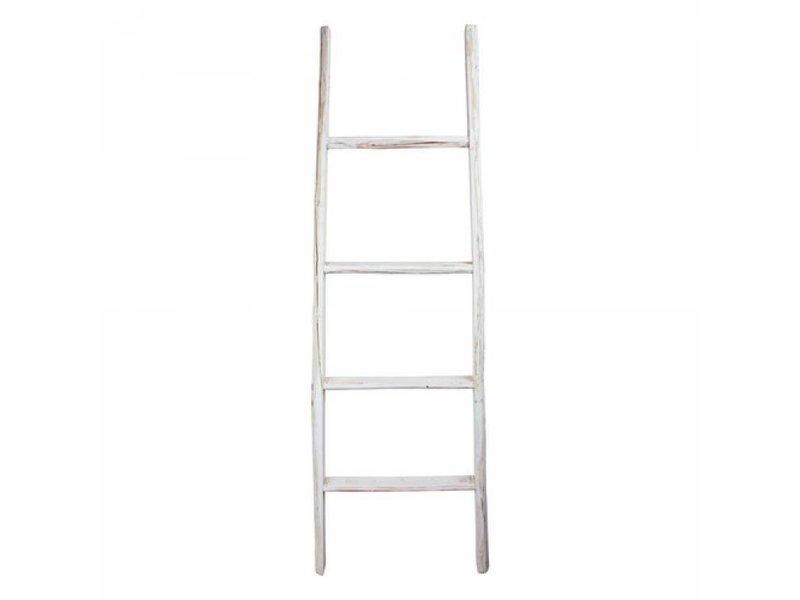 GeWoon Decoratie ladder wit - 50x6x150 cm