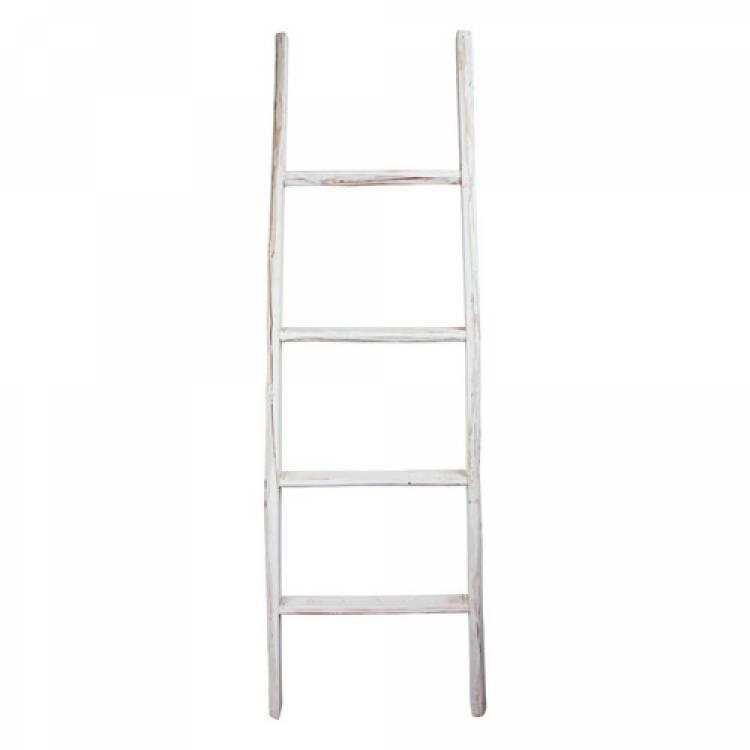 GeWoon Decoratie ladder wit 50x6x150 cm