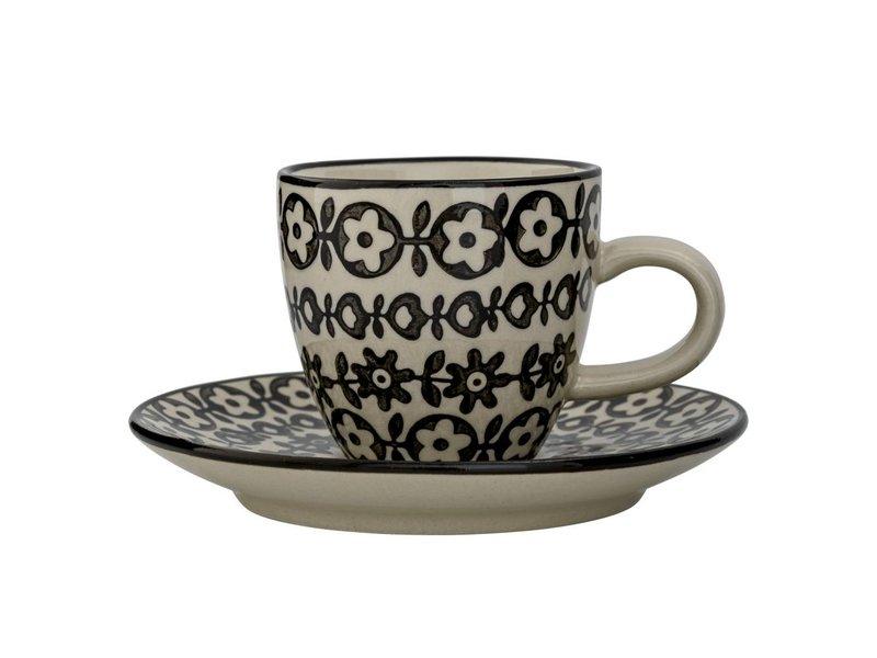 Bloomingville Espresso kop met schotel - Ø11,5 cm
