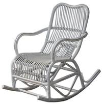 Witte rotan schommelstoel - Mahakan
