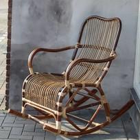Naturel rotan schommelstoel - Mahakan