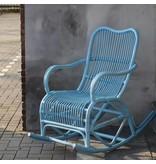 GeWoon Blauwe rotan schommelstoel - Mahakan
