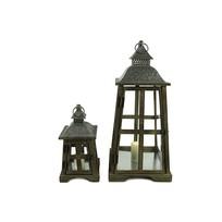 Bruine houten lantaarn Kenmare - 33 cm