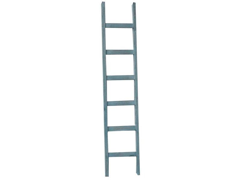 GeWoon Decoratie ladder blauw - 160 cm