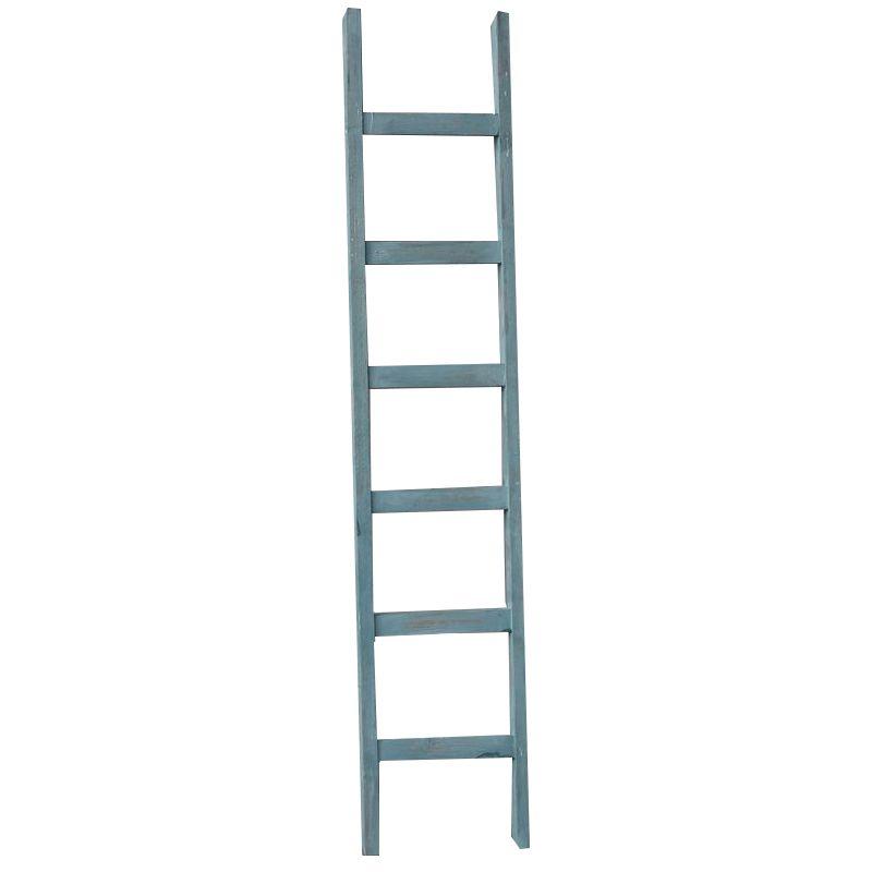 GeWoon Decoratie ladder blauw 160 cm