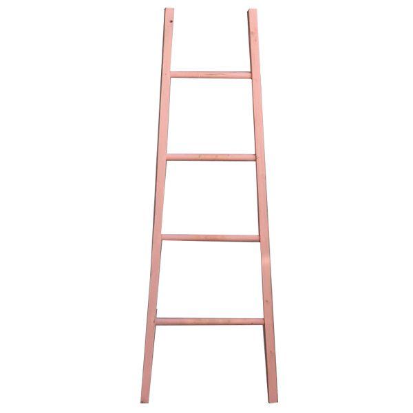 GeWoon Decoratie Ladder Roze B48xH155 cm