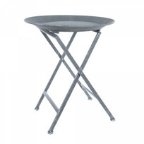 Butlertray greywash - Ø51XH60 cm
