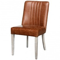 Eetkamerstoel Cognac Leder - 48x57xH80 cm