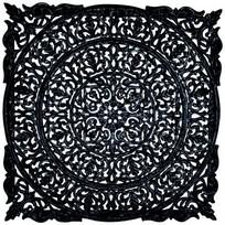 Wandpaneel zwart L - 90x3x90 cm