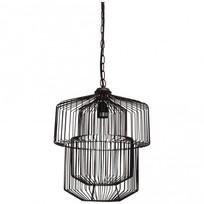 Hanglamp ijzer zwart - 31x31x39 cm