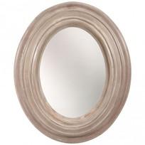 Ovale spiegel hout - 75x5x91 cm