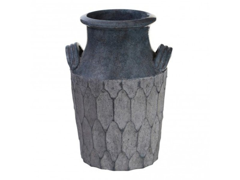 PTMD Collection Vaas Dusty Grey - Ø22xH36 cm